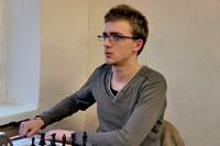 второе место, мастер ФИДЕ из Москвы Глеб Апрышко