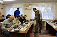 Сеанс одновременной игры Олега Корнеева (2643) со сборной города Кимры