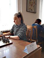 В Орле на чемпионате ЦФО среди женщин после шести туров продолжает лидировать Дьяконова Екатерина из Тулы