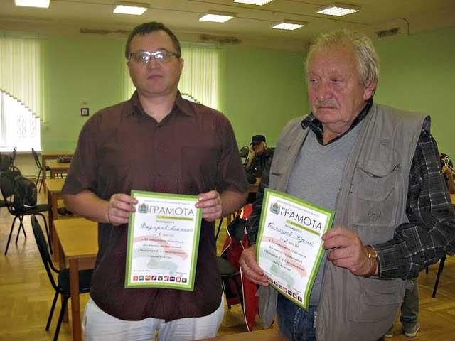 Победитель и серебряный призёр шахматного фестиваля гроссмейстеры Алексей Федоров и Юрий Балашов