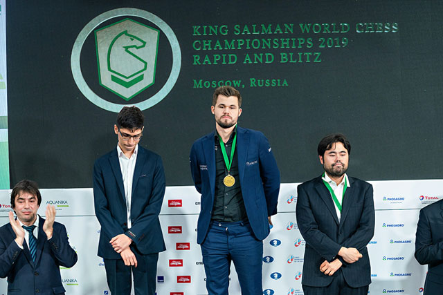 Награждение победителей в быстрых шахматах