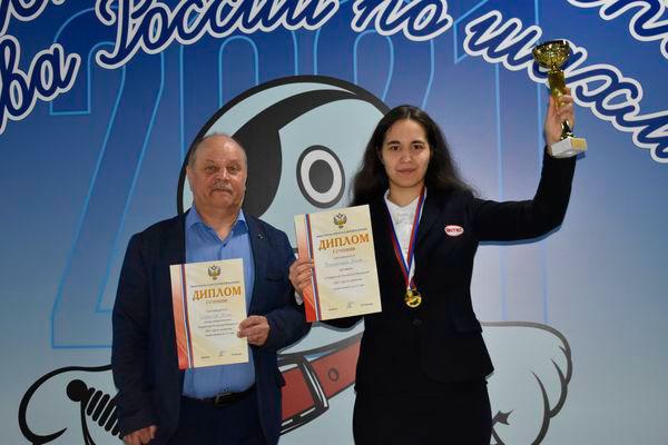 В первенстве России среди девушек до 21-го года по классическим шахматам победу одержала международный мастер из Обнинска Анна Афонасьева