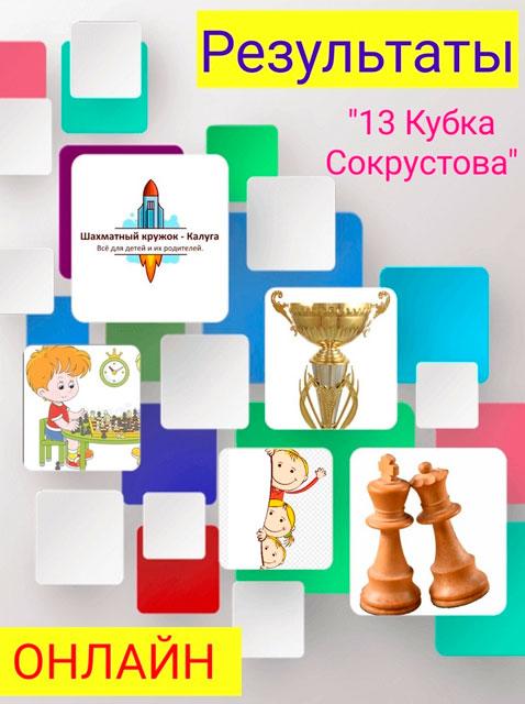 Результаты онлайн-турнира по шахматам «13 Кубок Сокрустова»