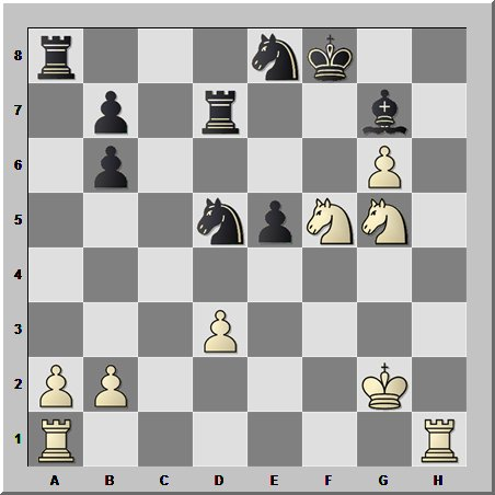 Шахматная феерия лихих гарцующих коней