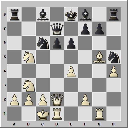 Шахматный урок типовых позиций: длинная рокировка белых и нерокированный король чёрных