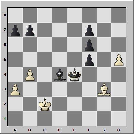 Шахматные окончания: однопольные слоны и отделённая проходная