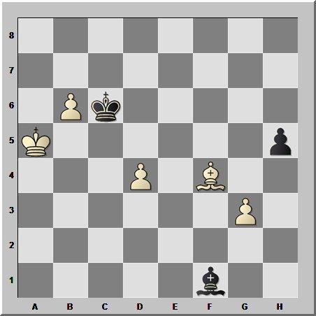 Шахматные окончания: этюдная позиция в слоновом эндшпиле