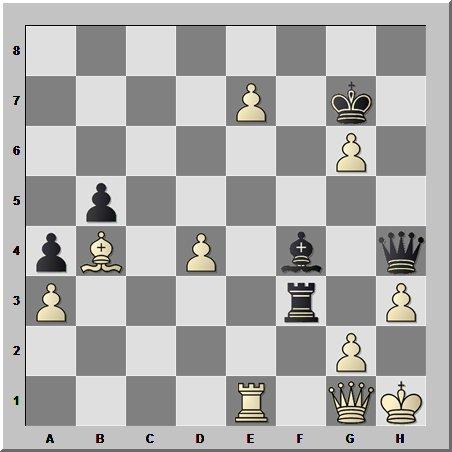 10-й чемпион мира по шахматам Борис Спасский останавливает штурм Виктора Корчного
