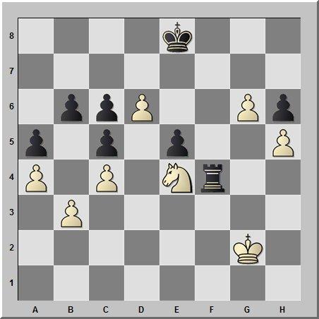 Этюдное окончание случается и в реальной шахматной партии