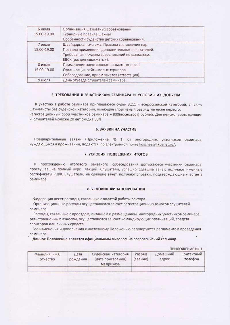 Всероссийский семинар судей по шахматам
