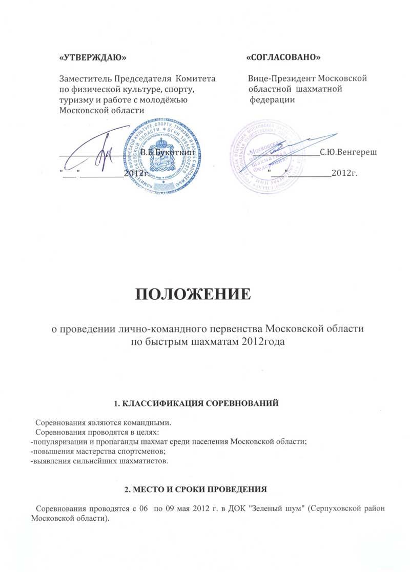 Первенство Московской области по быстрым шахматам